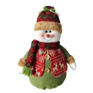 【聖誕裝飾品特賣】紅帽聖誕雪人布偶擺飾