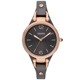 【FOSSIL】簡約時尚_皮革錶帶_指針女錶(ES3077)