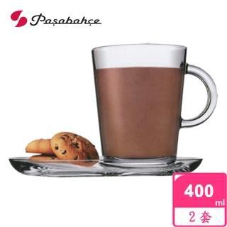 【土耳其Pasabahce】精緻玻璃咖啡杯盤(二套組)