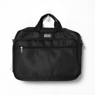 手提包 品味精緻尼龍公事包.側背包 大空間多夾層 可放A4文件.大筆電(玖飾時尚)