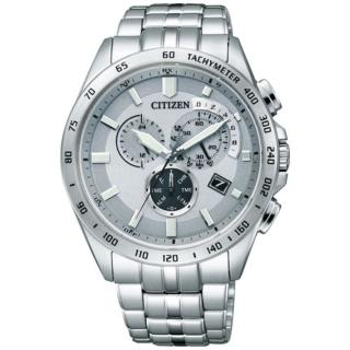 【CITIZEN Eco-Drive】電波碼錶鬧鈴時尚男錶(AT3000-59A)