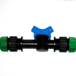 【灑水達人】六分水管轉六分水管管開關接頭球閥2入