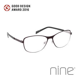 【nine 眼鏡】丹麥設計日本手工製造 EDGE系列光學眼鏡-(深棕 EDGE 2212 BRK)