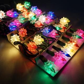 【聖誕裝飾品特賣】聖誕燈-鑽石燈串(35燈 鎢絲燈 可搭聖誕樹)