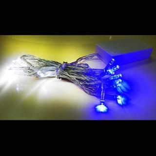 【聖誕裝飾品特賣】聖誕燈 LED燈串20燈電池燈(藍白光 透明線 高亮度又環保)