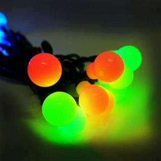 【聖誕裝飾品特賣】聖誕燈裝飾燈LED20燈珍珠燈造型燈(彩色光 插電式/自動雙色雙閃)