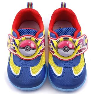 【童鞋城堡】神奇寶貝/寶可夢 中童 寶貝球LED電燈運動鞋(PA7306-藍)