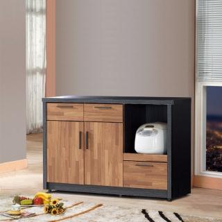【樂和居】楓尚4尺雙色碗盤櫃/櫥櫃(下座)