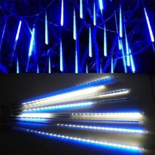 【聖誕裝飾品特賣】聖誕燈裝飾燈LED流星燈串8條燈(藍白光插電式/單燈長50cm)