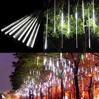 【聖誕裝飾品特賣】聖誕燈裝飾燈LED流星燈串8條燈(白光插電式/單燈長50cm)