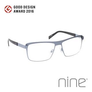 【nine 眼鏡】丹麥設計日本手工製造 EDGE系列光學眼鏡-(灰藍 EDGE 2227 SEA)