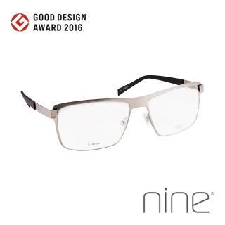 【nine 眼鏡】丹麥設計日本手工製造 EDGE系列光學眼鏡-(灰 EDGE 2227 STL)