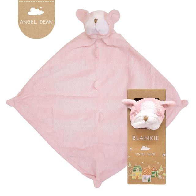 【美國 Angel Dear】動物嬰兒安撫巾(粉紅鬥牛犬)