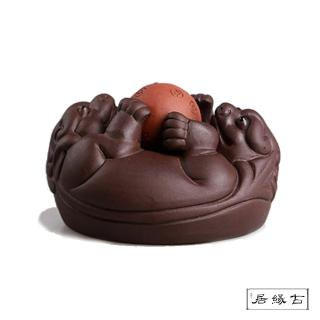 【古緣居_12H】吉祥獸紫砂 茶寵擺飾(時來運轉)