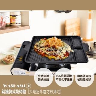 【WASHAMl】鑄鐵韓式燒烤盤(大理石外層方形排油)