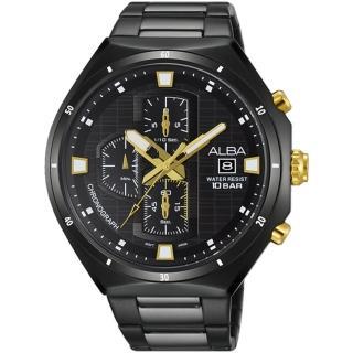 【ALBA雅柏】冬季聖誕節三眼計時不鏽鋼腕錶(46mm/VD57-X087SD)