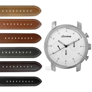 【LICORNE 力抗】MYO 首創自由搭配藍寶石水晶玻璃真皮手錶 白色 45mm(LT124MWW)