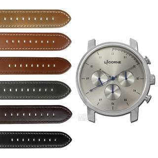 【LICORNE 力抗】MYO 首創自由搭配藍寶石水晶玻璃真皮手錶 銀灰色 45mm(LT124MWU)