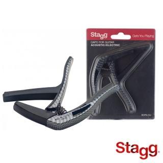 【Stagg 比利時品牌】碳纖維移調夾 木吉他/電吉他/貝斯適用(SCPX-CU Carbon)