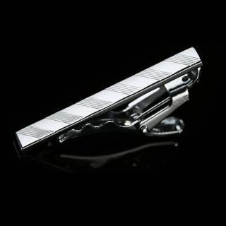 【拉福】領帶夾窄版領帶夾窄領夾斜紋(4cm)  拉福