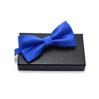 【拉福】銀絲點點領結新郎結婚領結糾糾(寶藍)  拉福