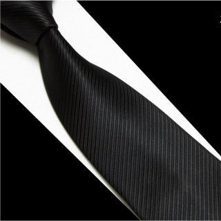 【拉福】黑色斜紋領帶6cm中窄版領帶拉鍊領帶(黑)
