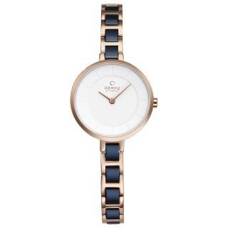 【OBAKU】氣質雅致雙色時尚腕錶(V183LXVISL)