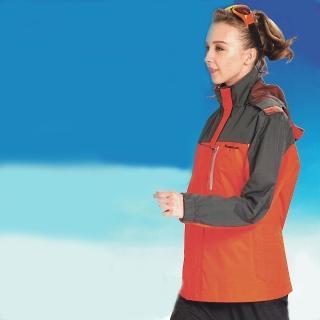 【日本Kawasaki】女版休閒功能性二件式網裡外套(橘灰)