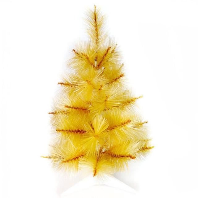 【聖誕裝飾品特賣】台灣製2尺-2呎60cm特級金色松針葉聖誕樹裸樹(不含飾品 不含燈)