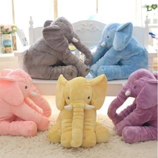 療癒系大象抱枕安撫嬰兒絨毛娃娃靠枕(5色任選)