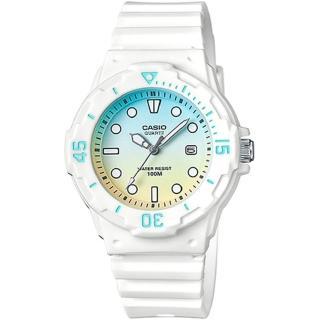 【CASIO】雙色漸層運動潛水風格腕錶(LRW-200H-2E2)