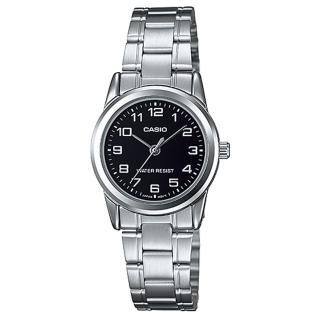 【CASIO】經典淑女時裝數字指針腕錶(LTP-V001D-1B)