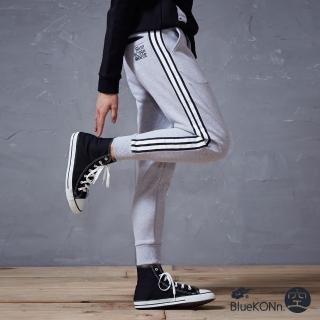 【BLUEWAY-BlueKONn.】運動風拼接縮口棉褲