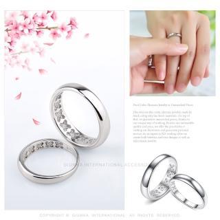 【GIUMKA】925純銀情侶對戒 藏久珍愛純銀戒指 單個價格 MRS6012(銀色)