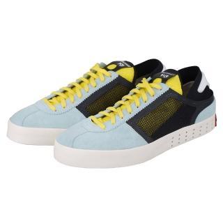 【Y-3 adidas】時尚潮流質感牛皮混合網狀休閒運動鞋(淺藍色)