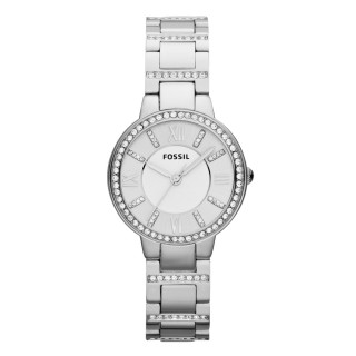 【FOSSIL】浪漫氣質_不鏽鋼錶帶_防水_晶鑽指針女錶(ES3282)