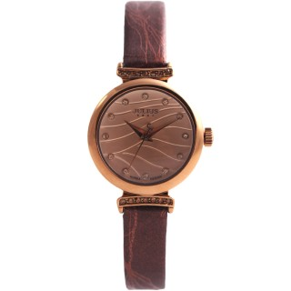 【JULIUS】琉璃海水鑽皮帶腕錶(三色/26mm)