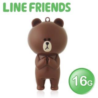 【LINE FRIENDS】16GB 立體造型隨身碟-熊大(WH-LN223B-速達)