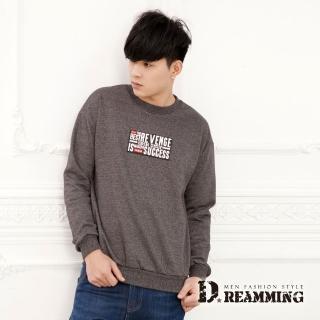【Dreamming】立體膠印保暖刷毛圓領大學長T(共四色)