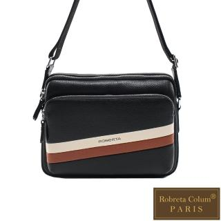 【Roberta Colum】極簡雅痞款休閒橫式側背包