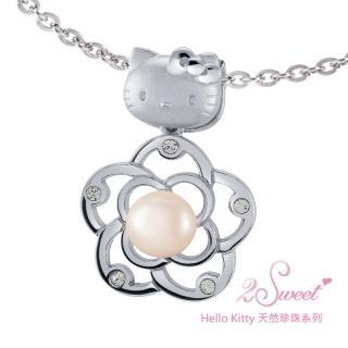 【甜蜜約定2sweet-PET885】Hello Kitty珍珠系列白鋼墬飾(Hello Kitty)