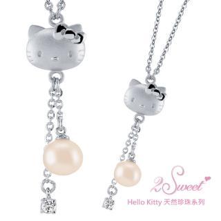 【甜蜜約定2sweet-NCT297】Hello Kitty珍珠系列白鋼項鍊(Hello Kitty)