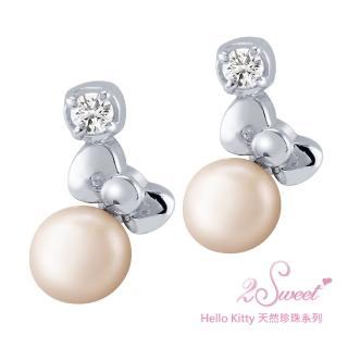 【甜蜜約定2sweet-ERT231】Hello Kitty珍珠系列白鋼耳環(Hello Kitty)