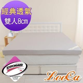 【快速到貨】LooCa經典超透氣8cm彈力記憶床墊(雙人5尺)