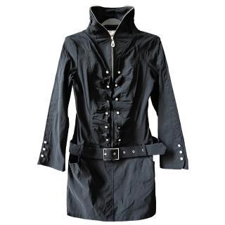 【JS嚴選】韓風修身顯瘦浪漫連身裙外套(DJ2667黑*1件+隨機小褲褲*2)