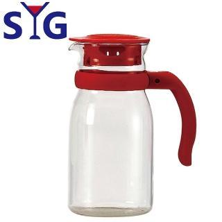 【SYG】精緻玻璃耐熱涼水壺805cc(紅蓋)