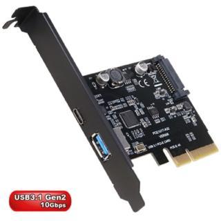 【伽利略】PCI-E 4X USB3.1 1A 1C 擴充卡(PTU312C)