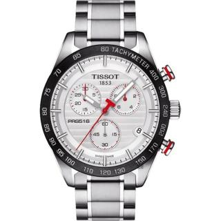 【TISSOT 天梭】PRS516系列 決戰賽道三眼計時不鏽鋼腕錶(42mm/T1004171103100)