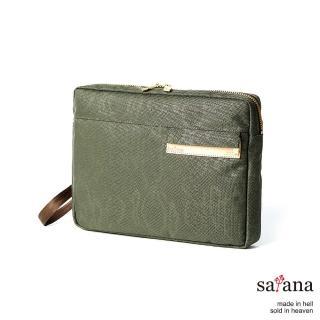 【satana】城市風尚手拿包(墨綠色)