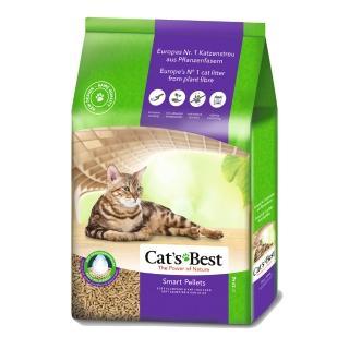 【德國凱優CAT'S BEST】優質凝結木屑砂-紫標(長毛貓專用-20Lx1包)